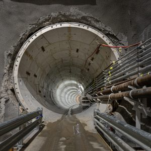 Completed tunnel from the Parkville Station site to the new State Library Station