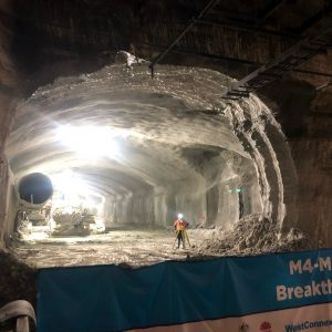 First breakthrough on M4-M5 Link Tunnels